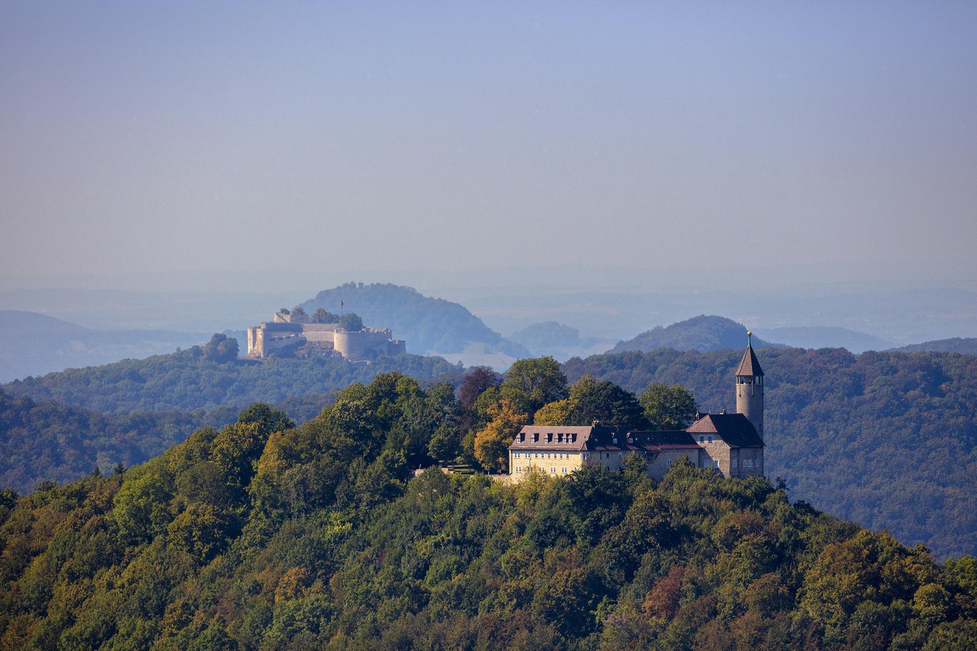 Festungsruine Hohenneuffen und Burg Teck, Außenaufnahme