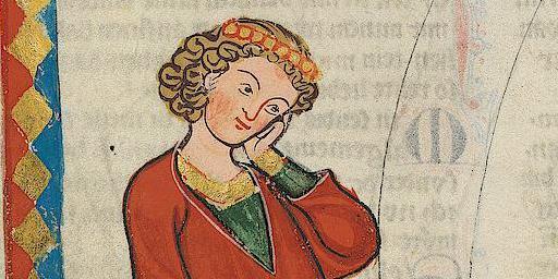 Gottfried von Neifen im Codex Manesse; Foto: Wikipedia gemeinfrei