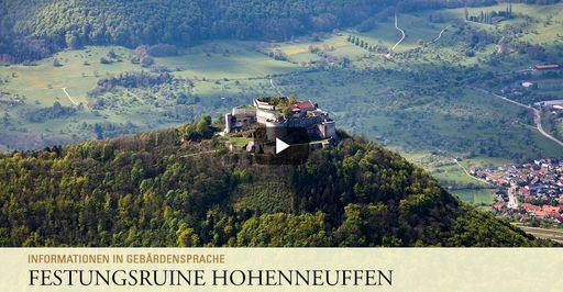 """Startbildschirm des Filmes """"Festungsruine Hohenneuffen: Informationen in Gebärdensprache"""""""