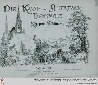 Titelblatt von Eduard Paulus, Die Kunst- und Altertumsdenkmale im Königreich Württemberg