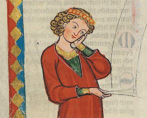 Gottfried von Neifen, Miniatur im Codex Manesse, um 1300