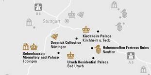 """journey map """"Swabian jura mountains & Tübingen"""""""