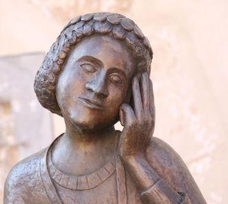 Bronzeskulptur Gottfried von Neuffen in Neuffen
