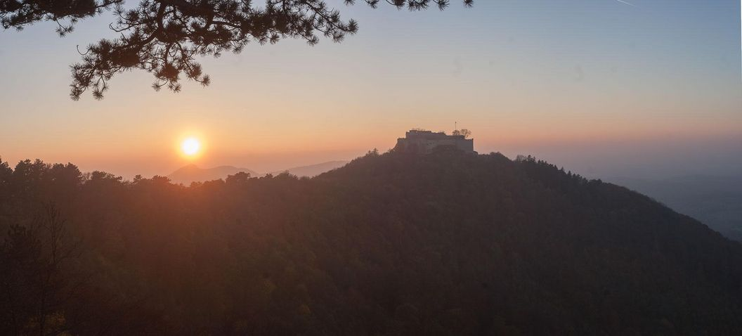 Festungsruine Hohenneuffen, Sonnenuntergang