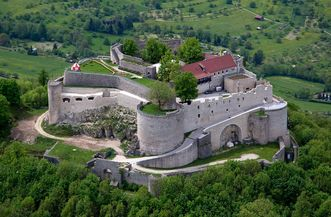 Bird's-eye view of Hohenneuffen fortress