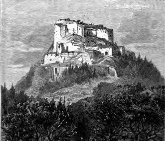 Festungsruine Hohenneuffen, Illustration von Robert Stieler, 1887