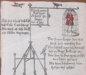 Schmähschrift auf Joseph Süß Oppenheimer, Ausschnitt; Foto: wikipedia gemeinfrei