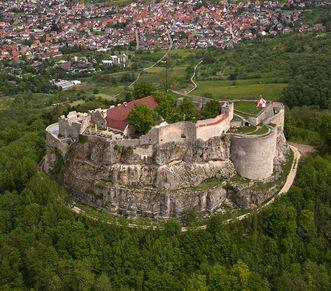 Festungsruine Hohenneuffen, Luftaufnahme